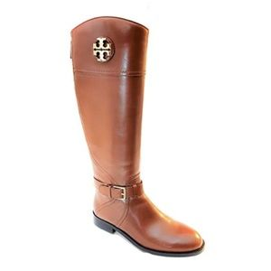 Tory Burch || Adeline Almond Leather Riding Boots